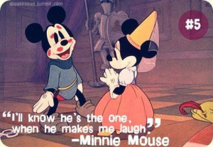 ... and minnie mouse, minnie mouse, cute, prince and princess, quotes
