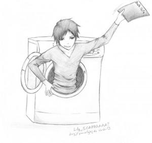 Kira Izaya Washing Machine WTF by MizuShin