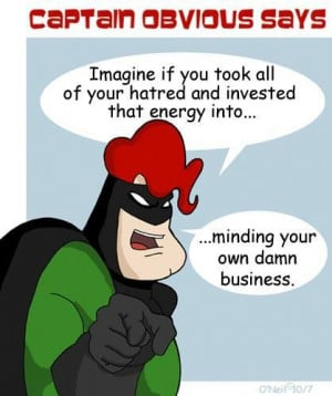 Captain Obvious says: