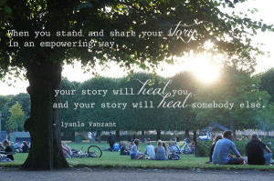 Tell your Story quote