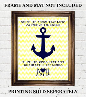 Personalized Anchor Printable Quote, Navy, Coast Guard, Wife ...