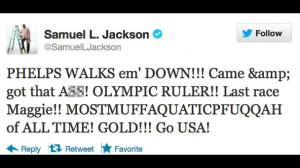 Samuel L. Jackson, 2012 London Olympics, Michael Phelps