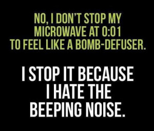 ... Funny Quotes ~ words bomb microwave no green black white funny cool