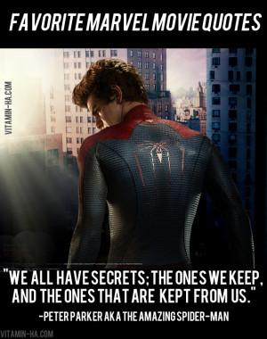 Marvel Super Hero Movie Quotes