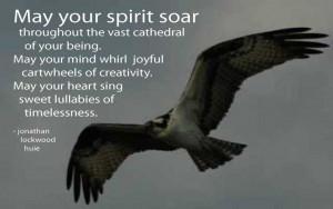 INSPIRATIONAL WINDOW – May Your Spirit Soar