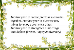 your wedding anniversary is the remembrance of the date your wedding ...