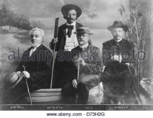Sholom Aleichem Ben Ami Bialik and Mendele Mocher Sforim circa 1920