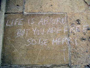 What are the most thought-provoking graffiti quotes?