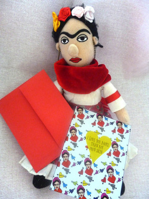 Frida Kahlo Quote Folkloric I Love You Paper Card A2