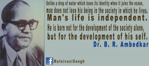 ... The Society In Which He Lives…. - Dr. B.R. Ambedkar ~ Politics Quote