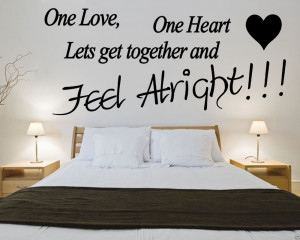 Bob-Marley-One-Love-One-Heart-Quote-Wall-Art-Removable-Vinyl-Wall ...