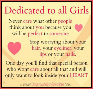 Dedicated to all the girls xx