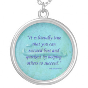 Helping Others Succeed Quote Necklace