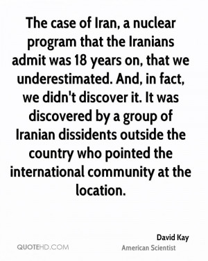 The case of Iran, a nuclear program that the Iranians admit was 18 ...