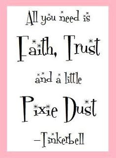 Cute! A Little Pixie Dust - Tinkerbell Quote Art Print by ...