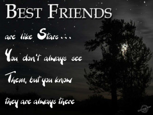 Best Friends Are Like Stars Inspirational Life Quotes