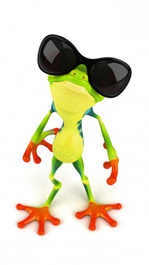 Funny Frog with Sunglasses iPhone 5 / 5S / 5C Wallpaper