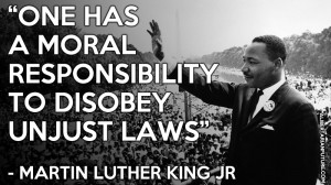 one has a moral responsibility to disobey unjust laws martin luther ...