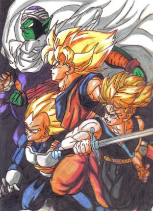 Piccolo, Goku, Vegeta e Trunks by CelsoCarvalho