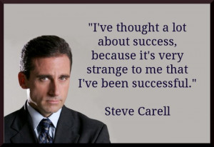 Steve Carell Quote About Success