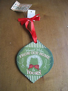 ... Christmas-Holiday-Living-Quotes-Wooden-Ornament-Warm-Wishes-From-Home