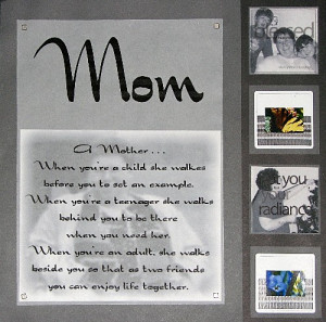 Mother's Day Scrapbook Page Challenge From Ellison