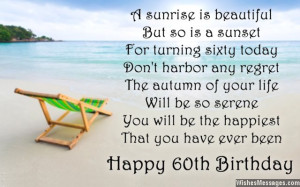 Happy 60th birthday card poem