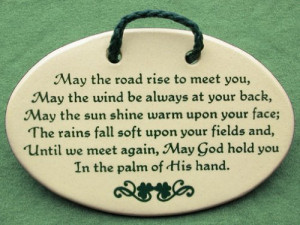 ... plaques and wall signs with sayings and quotes with traditional Irish