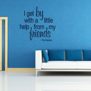 The Beatles quote wall decal