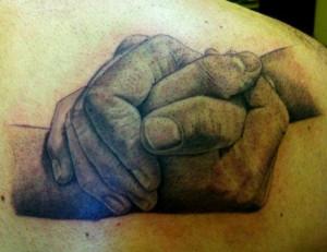 Father Son Tim Reid Tattoo Resim Design- realistic detail | Tattoos :)