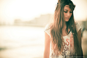 Alone beauty brunette girl sadness pretty