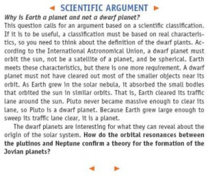Scientific Argument, presenting an interesting question and using ...