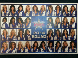2014 Dallas Cowboys Cheerleaders, in order by tenure and first name