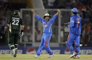 ... won their ICC Cricket World Cup 2011 semi-final match in Mohali March