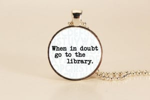 Harry Potter Book Quote Charm Necklace