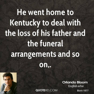 He went home to Kentucky to deal with the loss of his father and the ...