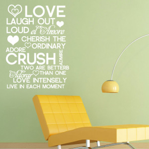 quotes art wall decal wording quote wedding gift vinyl sticker wall ...