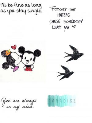 Mickey #minnie #mouse #love #valentine'sday #quotes #love #birds # ...