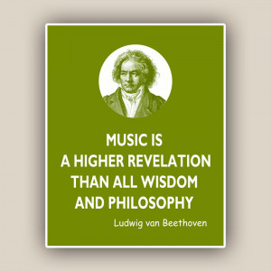 Country Quotes And Sayings From Songs Beethoven print, music quote,