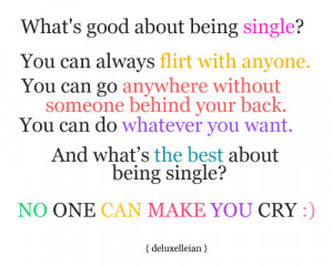 What's good about being single