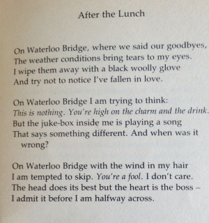 Wendy Cope poem