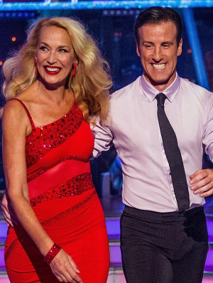 Hall right now ... Anton du Beke and Jerry Hall on Strictly Come ...