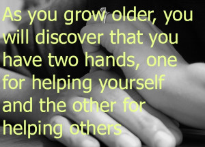 Monday Money Quote: Helping Hands