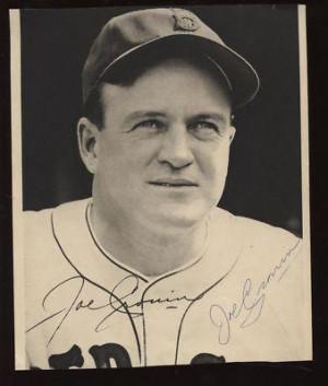 Joe Cronin Autographed Photo - with