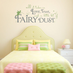 Fairy Dust Border Fairy dust quote olive wall