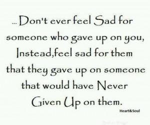 Feel sad