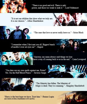 Harry Potter Quotes by books