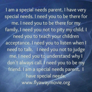 Special needs parent