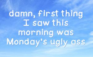 Monday Facebook Status On Sky Background