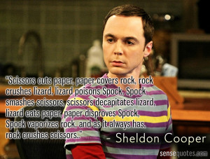 Sheldon Cooper Quote of extreme game.